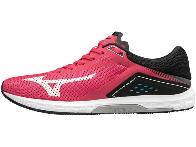 Mizuno Wave Sonic Running Shoes Women teaberry/white/black